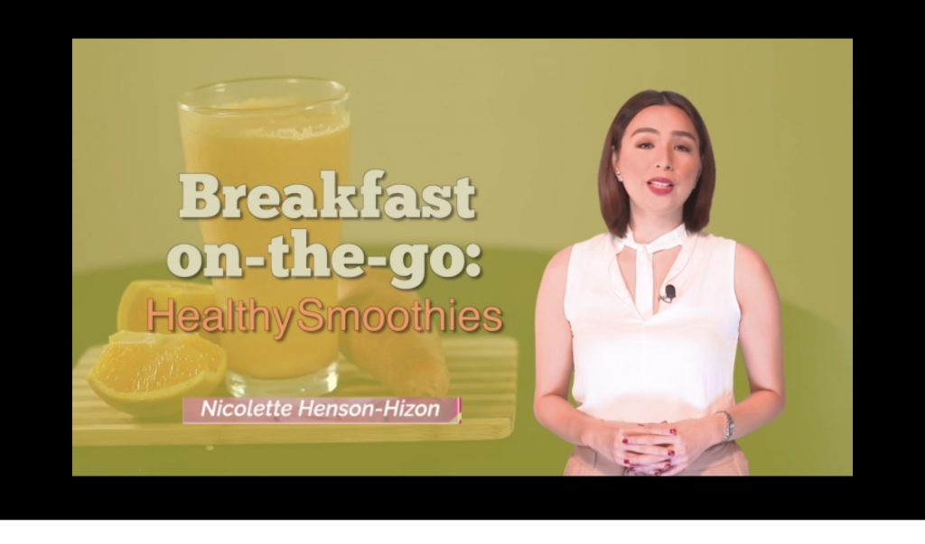 Breakfast on-the-go: Healthy Smoothies