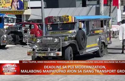 Deadline sa PUJ modernization, malabong maipatupad ayon sa isang transport group | CLTV36 News