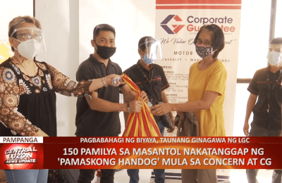 150 pamilya sa Masantol, Pampanga, nakatanggap ng 'Pamaskong Handog' mula sa CONCERN at CGIC