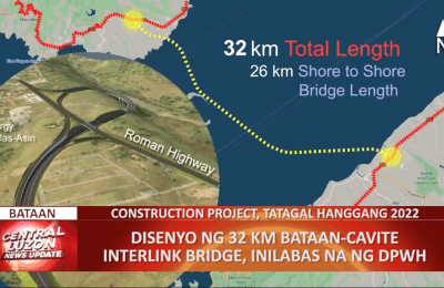 Disensyo ng 32KM Bataan-Caviter Interlink Bridge, isinapubliko ng DPHW