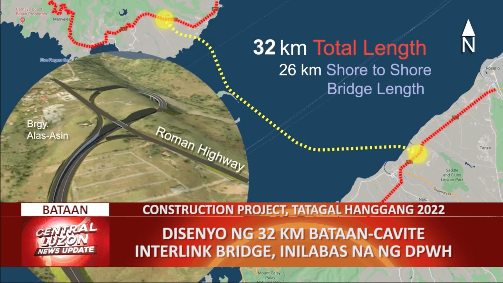 Disenyo ng 32-km Bataan-Cavite Interlink Bridge, inilabas na ng DPWH | CLTV36 News