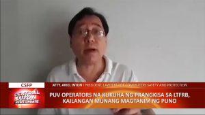 PUV operators, pinagtatanim ng puno bago makakuha ng LTFRB franchise | CLTV36 News