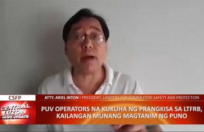 PUV operators, pinagtatanim ng puno bago makakuha ng LTFRB franchise