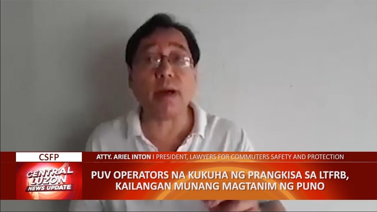 PUV operators, pinagtatanim ng puno bago makakuha ng LTFRB franchise   CLTV36 News