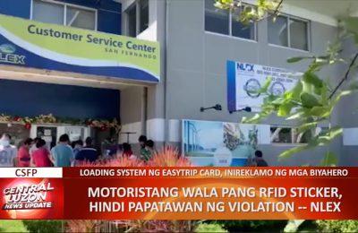 Mga motoristang wala pang RFID sticker, hindi papatawan ng violation— NLEX