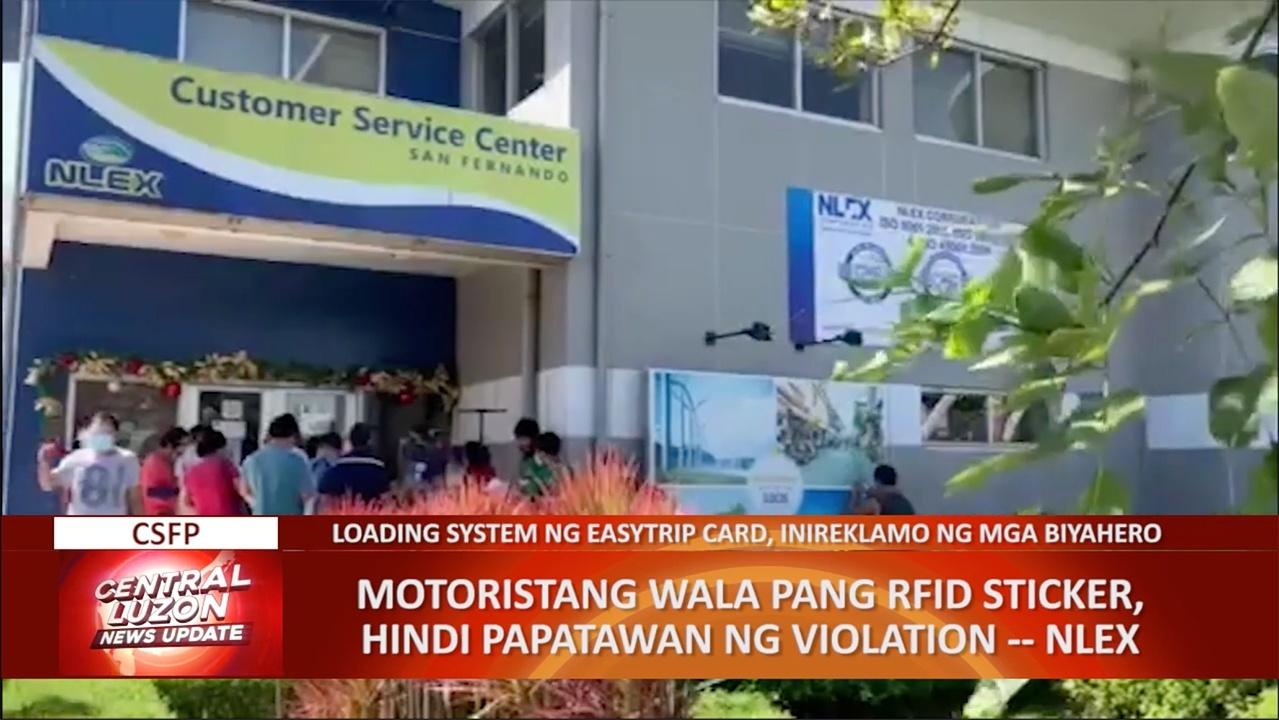 NLEX: Mga motoristang wala pang RFID sticker, hindi papatawan ng violation | CLTV36 News