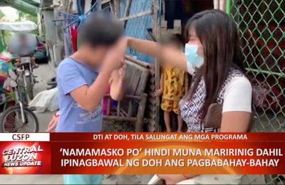 'Namamasko po', ipinagbawal ng DOH upang makaiwas sa posibleng COVID-19 transmission