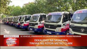 61 sasakyan, inihatid ng Foton Metro Clark sa Valenzuela LGU   CLTV36 News