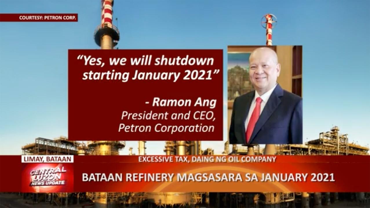 Bataan Refinery, magsasara sa January 2021 | CLTV36 News