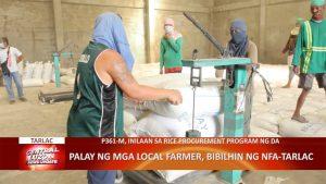 Palay ng mga local farmer, bibilhin ng NFA-Tarlac | CLTV36 News