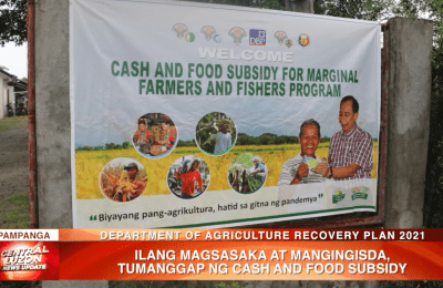 Ilang magsasaka at mangingisda, tumanggap ng cash and food subsidy | News