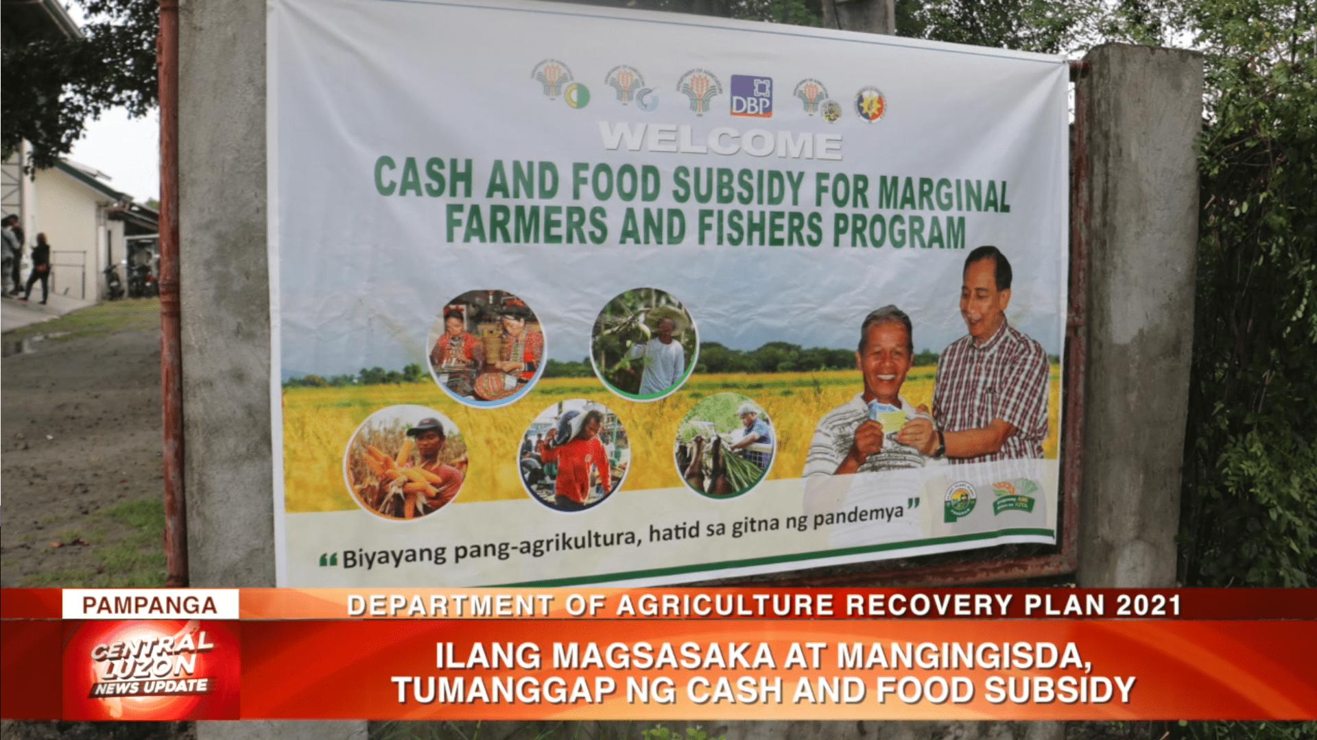 Ilang magsasaka at mangingisda, tumanggap ng cash and food subsidy | CLTV36 News