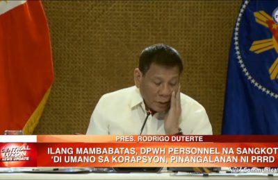 Ilang mambabatas, DPWH personnel na sangkot 'di umano sa korapsyon, pinangalanan ni Pres. Duterte | News