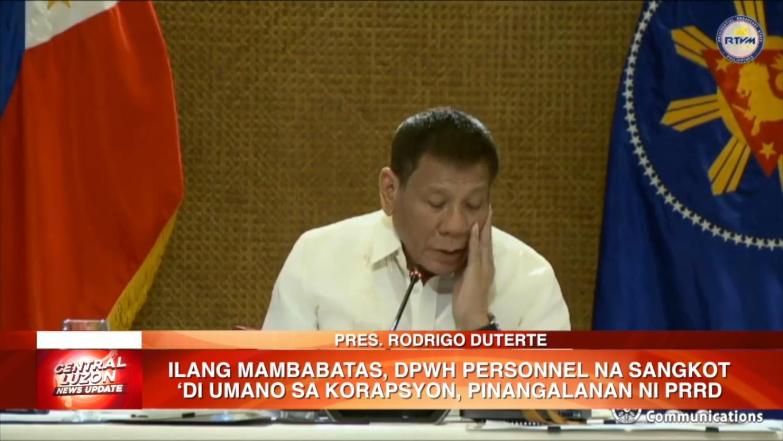 Pres. Duterte pinangalanan ang ilang mambabatas at DPWH personnel na sangkot 'di umano sa korapsyon