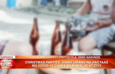 Christmas parties, sanhi umano ng pagtaas ng COVID-19 cases sa Mabalacat City | News