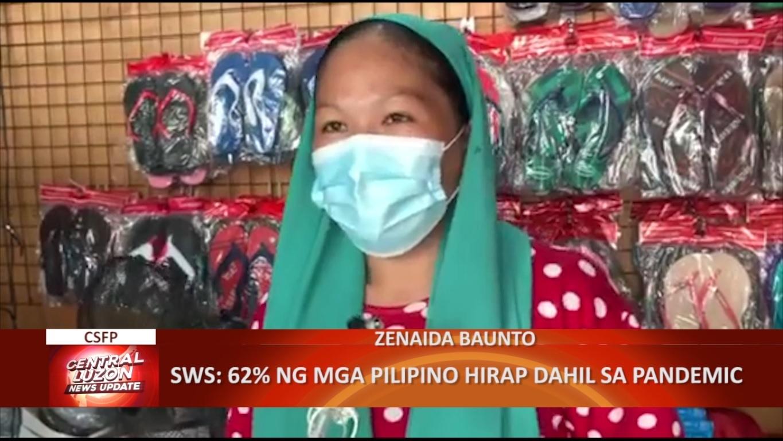SWS: 62% ng mga Pilipino hirap dahil sa pandemic | CLTV36 News