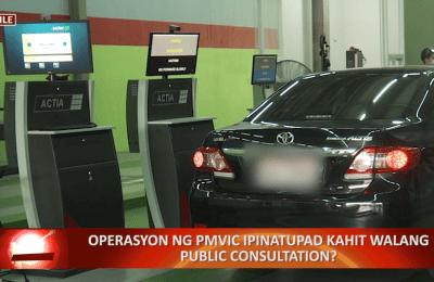 Operasyon ng PMVIC ipinatupad kahit walang public consultation?