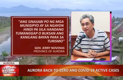 Aurora back-to-zero ang COVID-19 active cases
