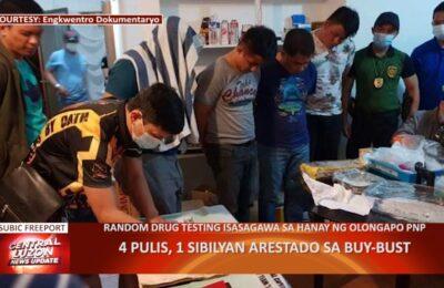 4 pulis, 1 sibilyan arestado sa buy bust sa Subic