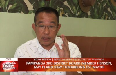 Pampanga 3rd District Board Member Rosve Henson, may plano raw tumakbong City of San Fernando Mayor