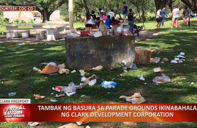 Tambak ng basura sa Parade Grounds ikinabahala ng Clark Development Corporation