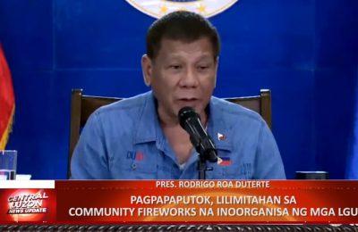 Pagpapaputok, lilimitahan sa community fireworks na inoorganisa ng mga LGU