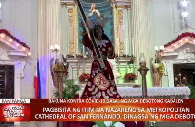 Pagbisita ng itim na Nazareno sa Metropolitan Cathedral of San Fernando, dinagsa ng mga deboto