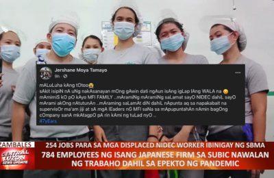 784 employees ng isang Japanese firm sa Subic, nawalan ng trabaho dahil sa epekto ng pandemic