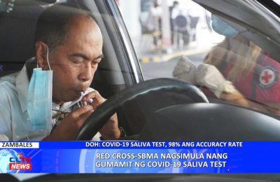 Red Cross-SBMA nagsimula nang gumamit ng COVID-19 saliva test