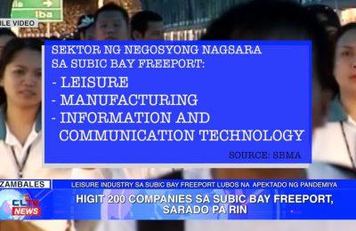 Higit 200 companies sa Subic Bay Freeport, sarado pa rin