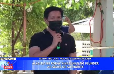 Alkalde ng Porac, Pampanga, kinasuhan ng plunder at abuse of authority