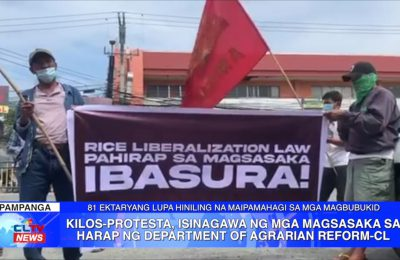 Kilos-protesta, isinagawa ng mga magsasaka sa harap ng Department of Agrarian Reform – Central Luzon