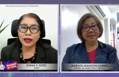 Marilou-Bianzon Garbes of MB Garbes Realty Services | Business Unusual with Sonia P. Soto