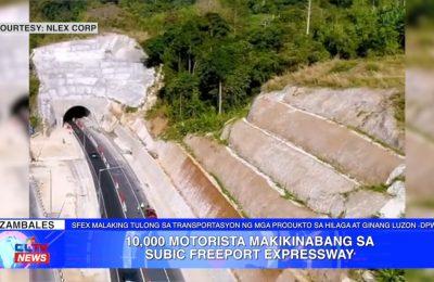 10,000 motorista makikinabang sa Subic Freeport Expressway