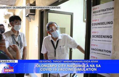 Olongapo City nagsimula na sa COVID-19 vaccine simulation