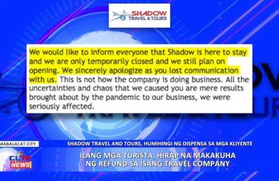 Ilang mga turista, hirap na makakuha ng refund sa isang travel company | PAMPANGA News