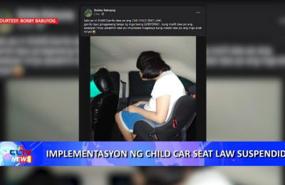 Implementasyon ng Child Car Seat Law suspendido