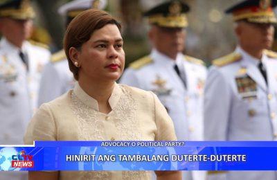 Hinirit ang tambalang Duterte-Duterte