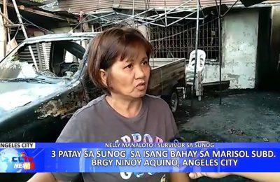 3 patay sa sunog sa isang bahay sa Marisol Subdivision, Angeles City