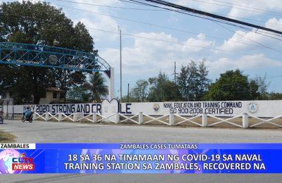18 sa 36 na tinamaan ng COVID-19 sa Naval Training Station sa Zambales, recovered na