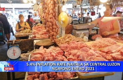 5.4% inflation rate naitala sa Central Luzon ngayong Enero 2021