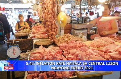 5.4% inflation rate naitala sa Central Luzon ngayong Enero 2021