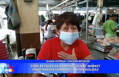 Pork retailer sa Pampang Public Market hindi nakiisa sumama sa  Pork Holiday