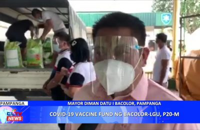 COVID-19 vaccine fund ng Bacolor LGU, ₱20M