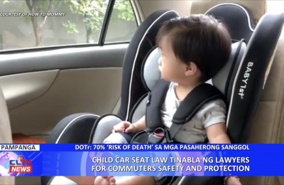 Child Car Seat Law tinabla ng Lawyers for Community Safety and Protection
