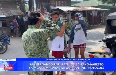 San Fernando PNP, patuloy sa pang-aaresto sa mga lumalabag sa quarantine protocols | Pampanga News