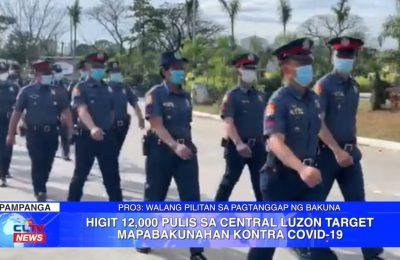 Higit 12,000 pulis sa Central Luzon target mapabakunahan kontra COVID-19 | Central Luzon News