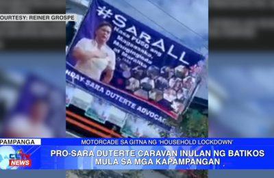 Pro-Sara Duterte Caravan inulan ng batikos mula sa mga Kapampangan | Pampanga News