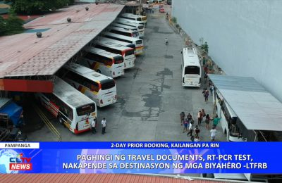 LTFRB: Paghingi ng travel documents, RT-PCR test, nakadepende sa destinasyon ng mga biyahero | Central Luzon News