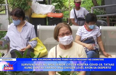 Survival rate ng mga senior citizen kontra COVID-19, tataas kung bantay-sarado ang oxygen level ayon sa eksperto | Pampanga News